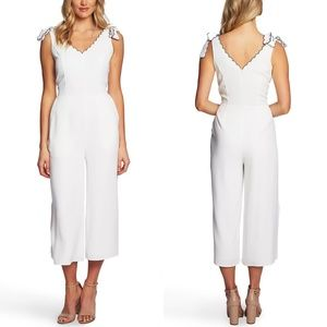 Cece Sleeveless Tie Shoulder Bow Cropped Jumpsuit